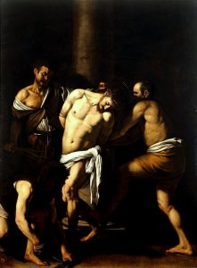 Michelangelo Merisi da Caravaggio, Flagellazione di Cristo, olio su tela, 1607, Napoli, Museo di Capodimonte