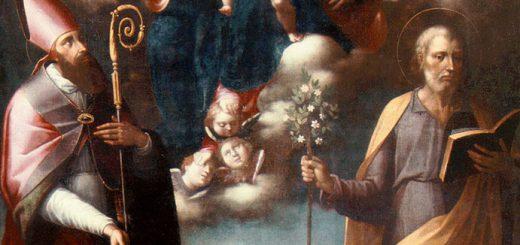 Giovanni Balducci, Madonna con Bambino tra Ss. Biagio e Giuseppe, olio su tela, XVII sec., Lagonegro, chiesa di sant'Anna