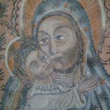 Madonna Eleousa, particolare degli affreschi della chiesa della candelora in Lagonegro (Potenza). XV/XVI sec. (Foto: Maddalena Falabella)