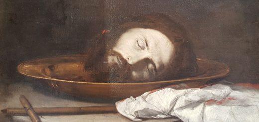 Jusepe de Ribera (attr.), Testa del Battista, olio su tela, XVII sec., Napoli, Museo Civico Gaetano Filangieri