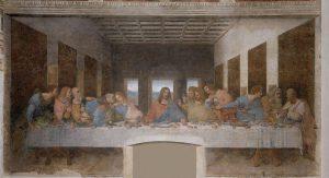 Leonardo da Vinci, Ultima Cena, 1495/1498, Milano, refettorio del convento di Santa Maria delle Grazie