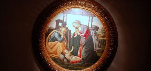 Sandro Botticelli (attr.), Natività, olio su tavola, XV sec., Cassino, Museo dell'abbazia di Montecassino