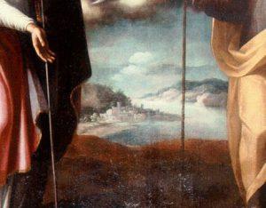 Giovanni Balducci, Madonna con Bambino tra Ss. Biagio e Giuseppe, part.