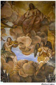 Anonimo maestro, Cristo in gloria tra angeli musicanti, part.(foto di Barbara Cirigliano)