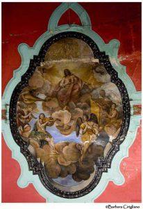 Anonimo maestro, Cristo in gloria tra angeli musicanti, XVIII sec. (?), Lagonegro, chiesa del Purgatorio