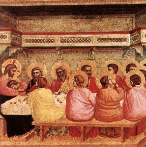 Giotto di Bondone, Ultima Cena, 1320/1325, Monaco, Alte Pinakhoteke