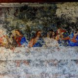 Anonimo, Ultima Cena (copia da Leonardo), 1859 (?), Saracena (Cosenza), refettorio del convento dei Cappuccini