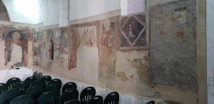 Cappella di Sant'Antonio Abate a Capodrise, affreschi della parete destra