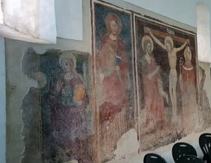 Cappella di Sant'Antonio Abate a Capodrise, affreschi della parete sinistra