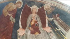 Cappella di Sant'Antonio Abate a Capodrise, affresco absidale