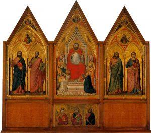 Giotto, Polittico Stefaneschi, verso, tempera e oro su tavola, 1320, Città del Vaticano, pinacoteca Vaticana