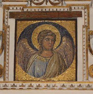 Giotto, Figura Angelica, dal Mosaico della Navicella degli Apostoli, 1305/1320, Boville Ernica, chiesa di San Pietro Ispano, cappella Simoncelli, già Città del Vaticano, basilica di San Pietro