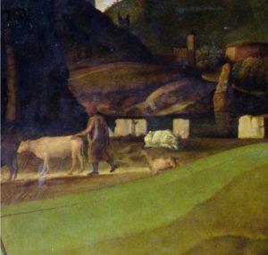 Giovanni Bellini, Trasfigurazione di Cristo, part.