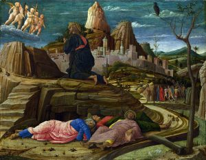 Andrea Mantegna, Orazione nell'orto, 1455, Londra, National Gallery