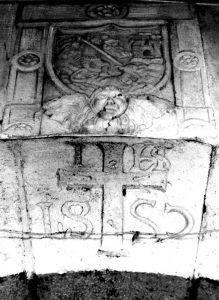 Stemma cinquecentesco cittadino di Lagonegro con San Michele che uccide il drago