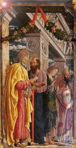 Andrea Mantegna, Pala di San Zeno, part.