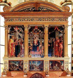 Andrea Mantegna, Pala di San Zeno, 1456-1459, Verona, chiesa di San Zeno