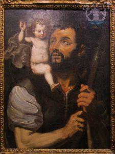Giovanni Bernardino Azzolino (copia da), San Cristoforo col Bambino, XVII sec., Gallipoli, pinacoteca Coppola
