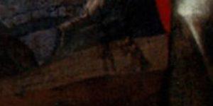 Giovanni Bernardino Azzolino, Madonna col Bambino e le Ss. Caterina d'Alessandria e Lucia, part.