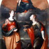 Giovanni Bernardino Azzolino, Madonna col Bambino e le Ss. Caterina e Lucia, XVII sec., Lagonegro (Potenza), chiesa di San Nicola al Castello