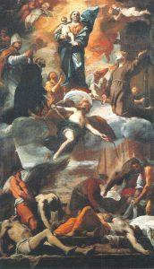 Mattia Preti, Bozzetto per gli affreschi votivi delle sette porte di Napoli, olio su tela, 1656, Napoli, Museo e Gallerie Nazionali di Capodimonte