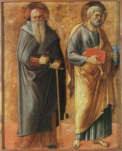 Giovanni Bellini, Polittico di Genzano, part. Sant'Antonio Abate e San Pietro