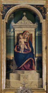 Cima da Conegliano, Polittico di Miglionico, part. Madonna col Bambino