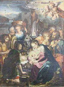 Girolamo Todisco, Adorazione dei pastori, 1606, Laurenzana, chiesa madre di Santa Maria Assunta