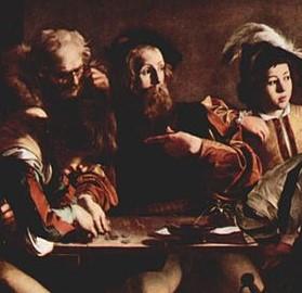 MIchelangelo Merisi detto il Caravaggio, Vocazione di San Matteo, part