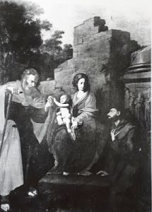Tav. 10 - Giovanni Ricca - Madonna col Bambino tra i SS. Giuseppe e Francesco dAssisi - Massa Lubrense chiesa di S. Maria della Misericordia