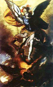 Tav. 12 - Girolamo De Magistro - San Michele Arcangelo abbatte il demonio - Napoli chiesa del Purgatorio ad Arco