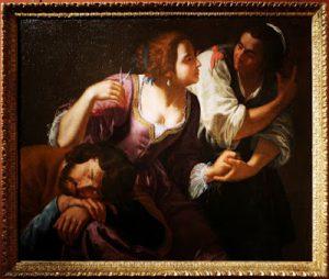 Tav. 16 - Domenico Fiasella - Sansone e Dalila - Napoli Gallerie Zevallos