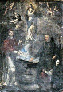 Tav. 17 - Agostino Beltrano-Immacolata Concezione con Alessandro VII e Filippo V - Napoli chiesa di S. Maria la Nova