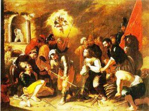 Tav. 19 - Martirio di S. Apollonia - Napoli gia collezione Mauro Calbi