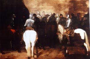 Tav. 3 - Carlo Coppola - Cavalieri con armatura a cavallo - Milano Semenzato 2003