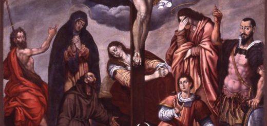 Cristiano Dannona, Crocifissione con l'Eterno e Santi, 1589, Melfi, cappella del Castello Federiciano.