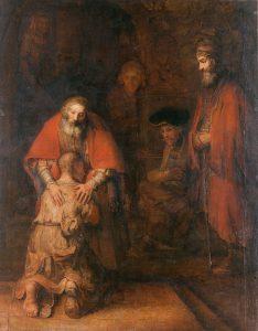 Rembrandt, Il ritorno del figliol prodigo, 1660-1669, San Pietroburgo, museo dell'Hermitage