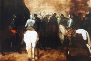 fig. 1 - Carlo Coppola - Cavalieri con armatura a cavallo - 53 -76