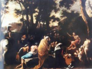 fig. 4 - Salvator Rosa - Il sermone di San Giovanni Battista - 115 - 150 - siglato S.R.